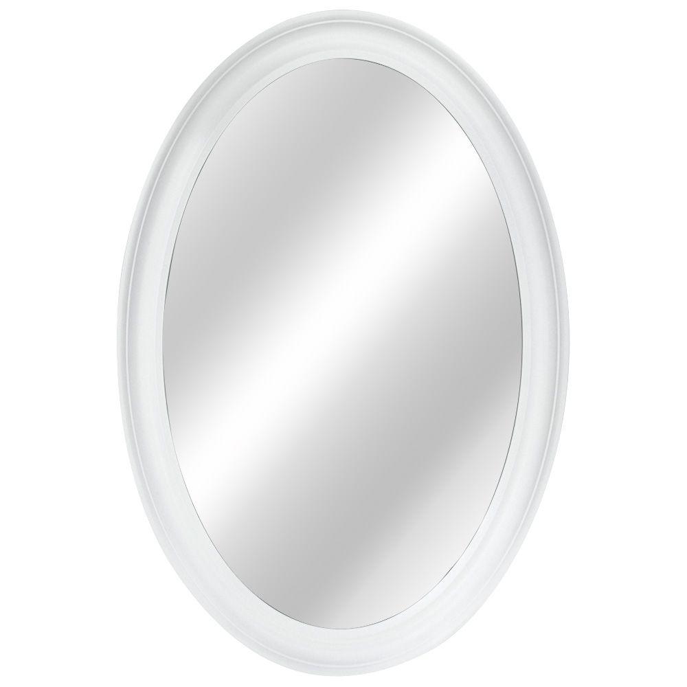 21 Inch Oval Framed Mirror, Fog-Free
