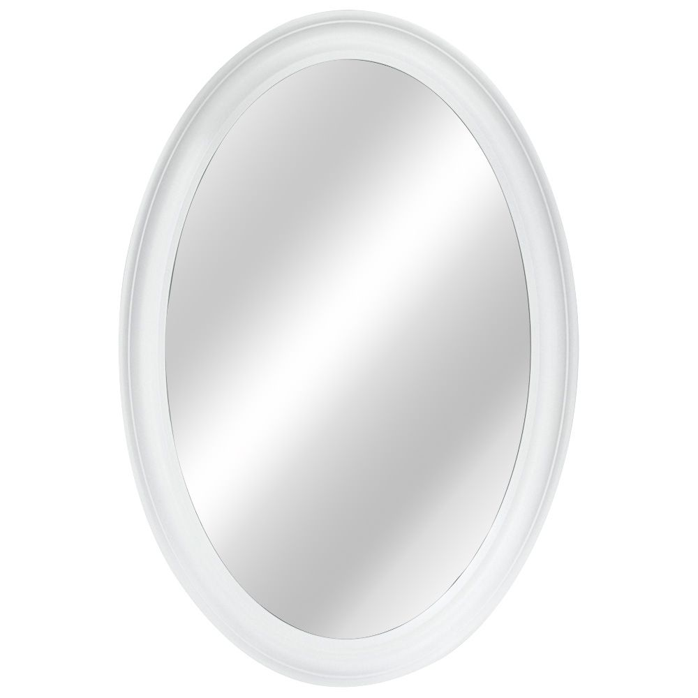 21 Inch Oval Framed Mirror, Fog-Free