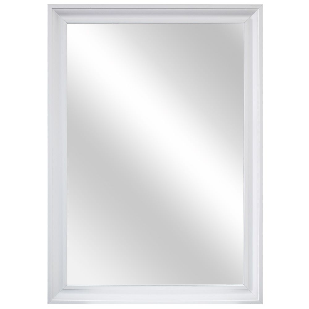 28 Inch Picture-Framed Mirror, Fog-Free