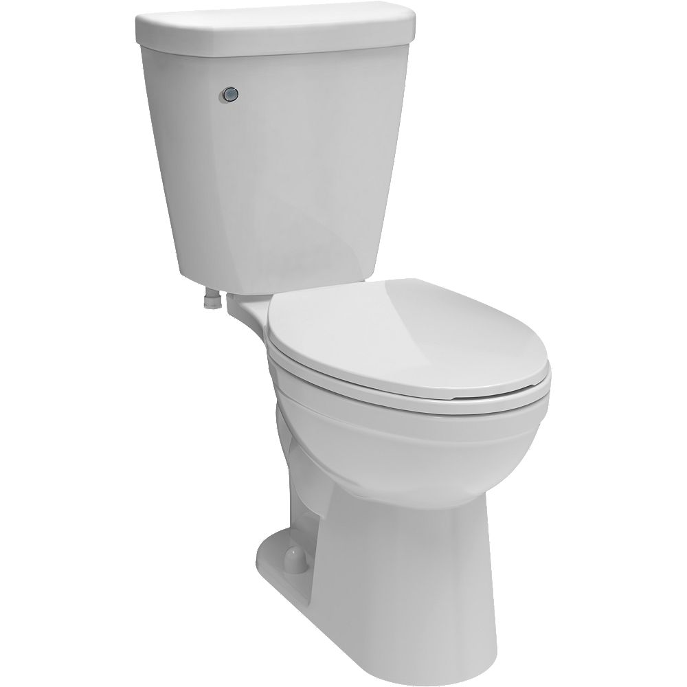 Delta Brevard FlushIQ Single-Flush Elongated Bowl Toilet