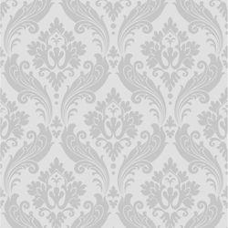 Graham & Brown Vintage Flock Grey Wallpaper