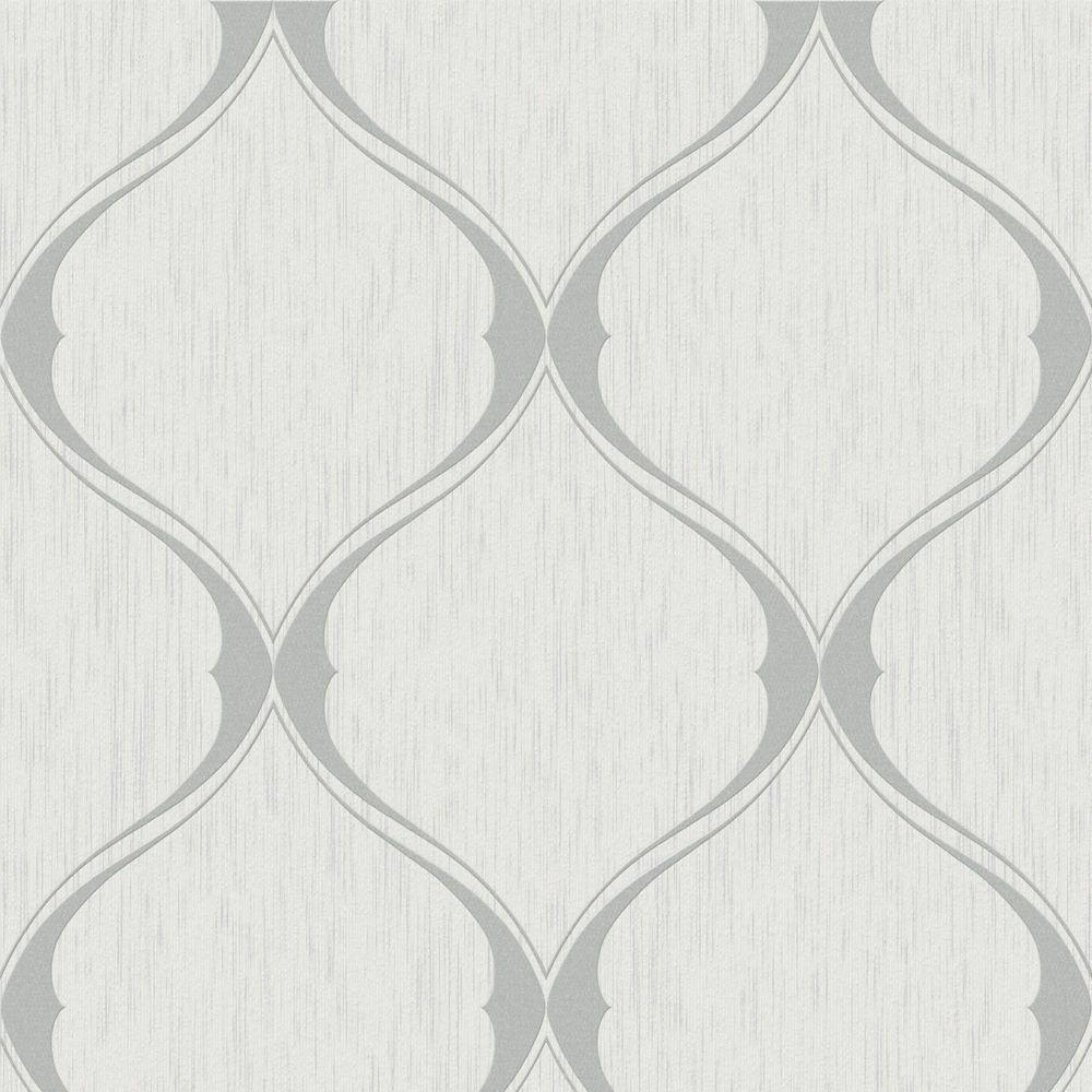 Ogee Grey Wallpaper