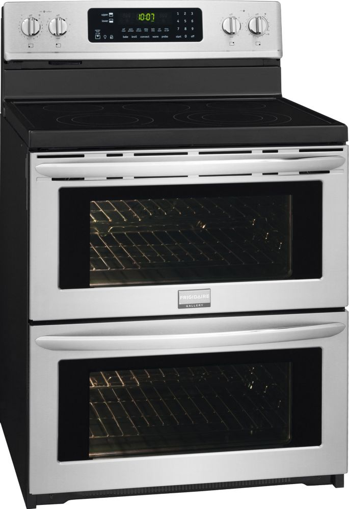 Gallery 3.5 cu. ft. Free-Standing Electric Double Oven Range in Stainless Steel