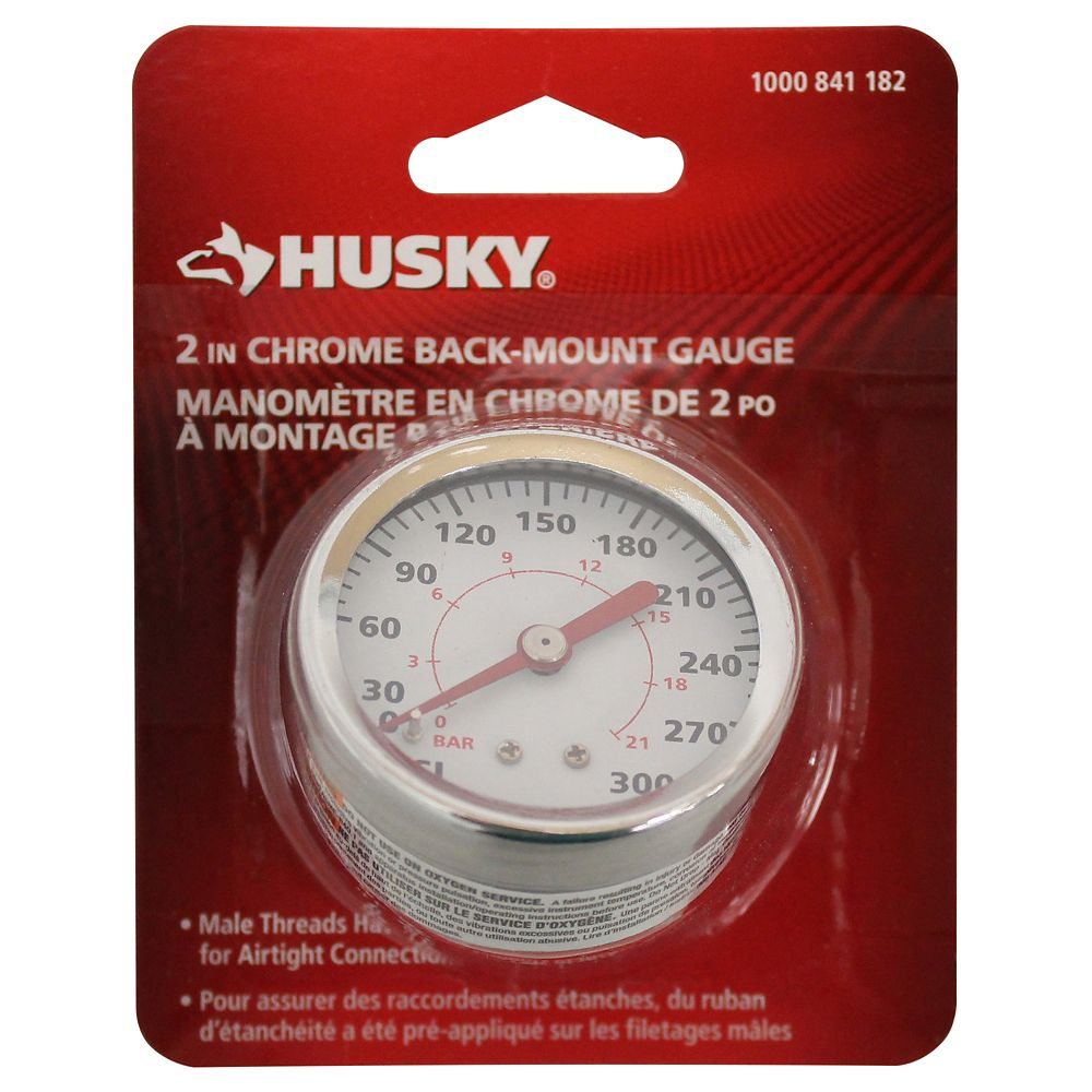 Back Mount Gauge 0-160 PSI