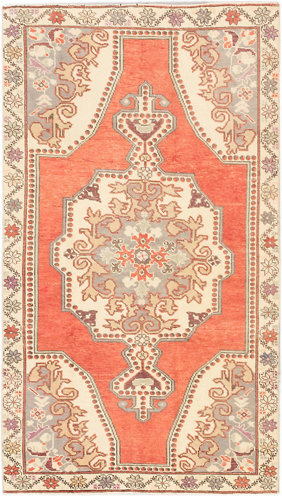 Hand-Knotted Anadol Vintage Red 4 ft. 2-inch x 7 ft. 4-inch Rectangular Area Rug