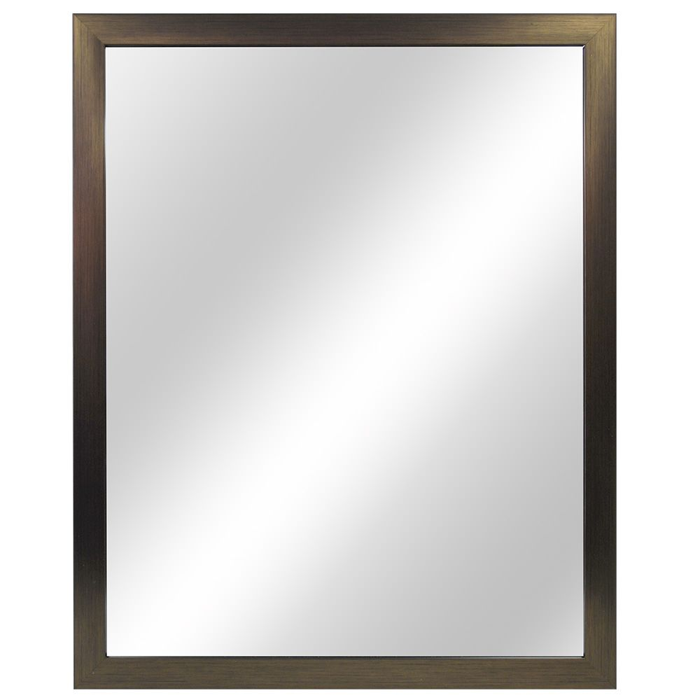 Modern Brush Nickel Mirror
