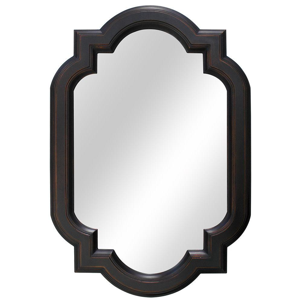 22 Inch Trefoil Framed Mirror, Fog-Free