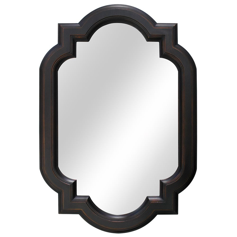 Home Decorators Collection 22 Inch Trefoil Framed Mirror, Fog-Free