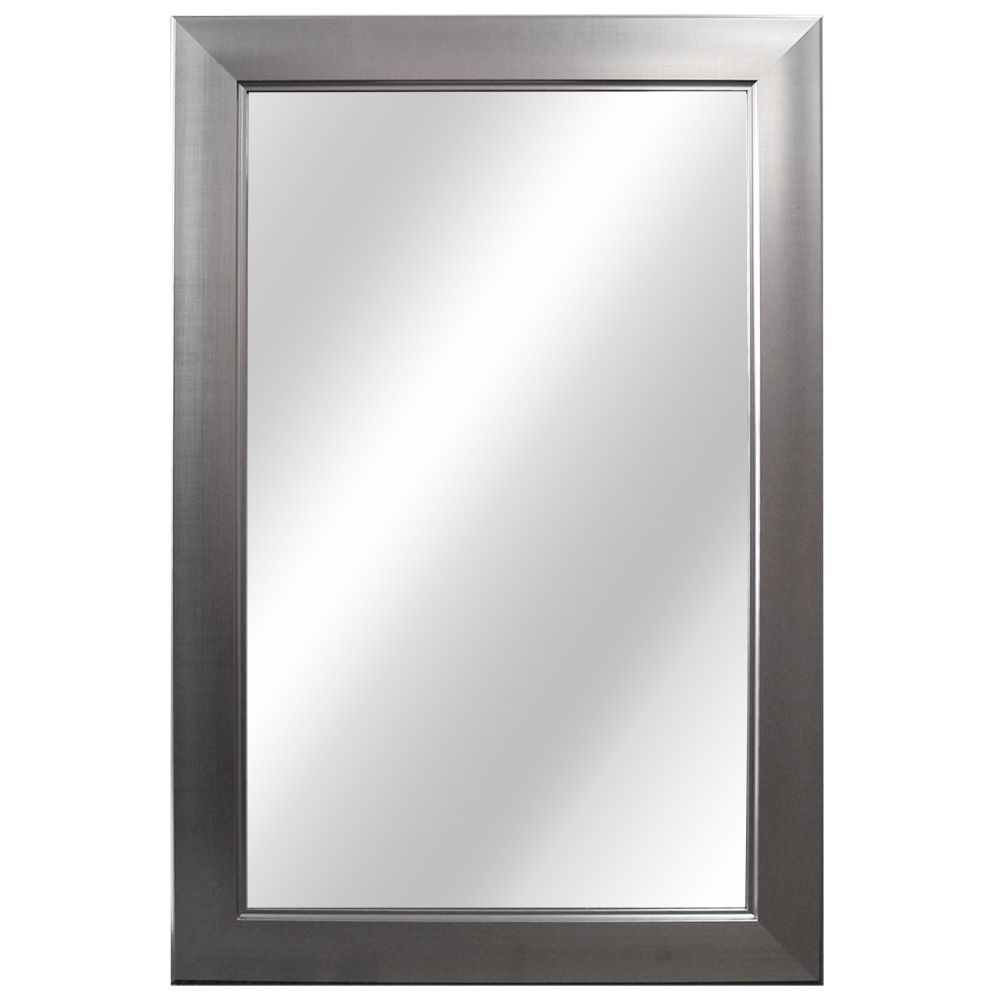 Home Decorators Collection 24 Inch Flat Framed Mirror Fog
