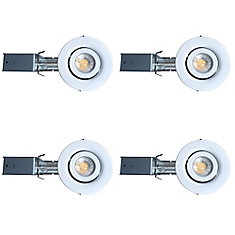 3 1/4-inch GU10 LED Gimbal Trim Kit (4-Pack)