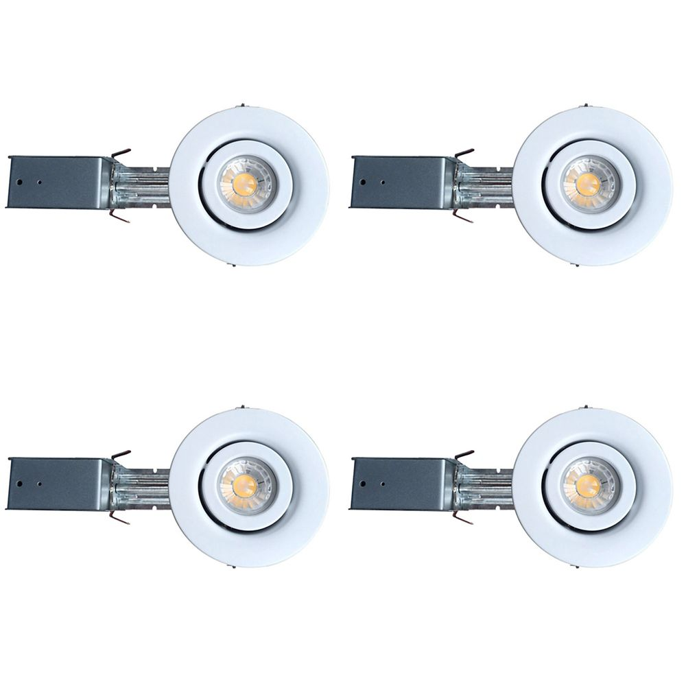 3 1/4 Inch GU10 LED Gimbal Trim Kit 4 Pack