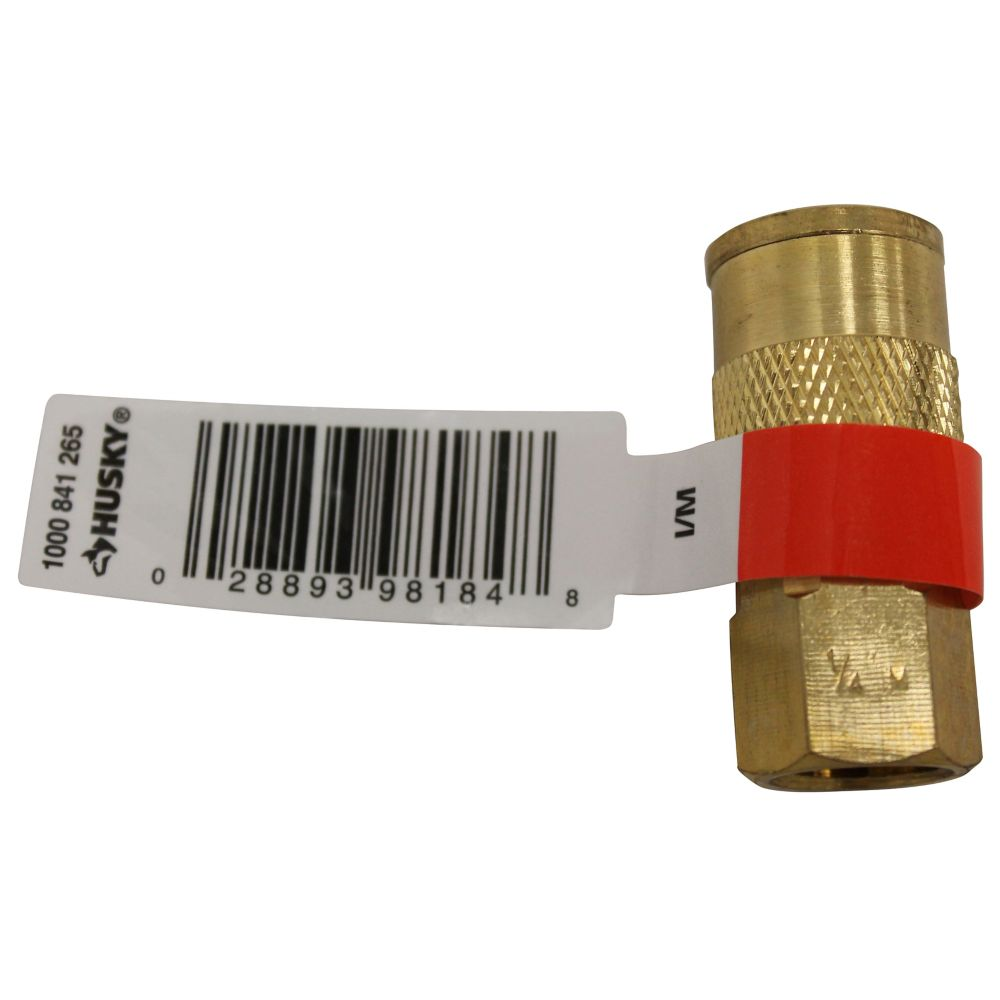 HUSKY 1/4 Inch Female Brass Coupler