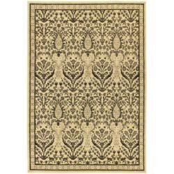 ECARPETGALLERY Carpette d'intérieur, 5 pi 5 po x 7 pi 6 po, style traditionnel, rectangulaire, rouge Classic Mahee, havane Classic Jardin