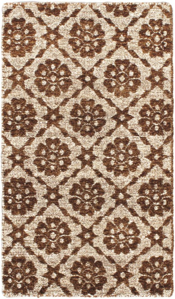 Hand loomed Rodrigo Brown  Rug - 2 Ft. 11 In. x 5 Ft. 3 In.