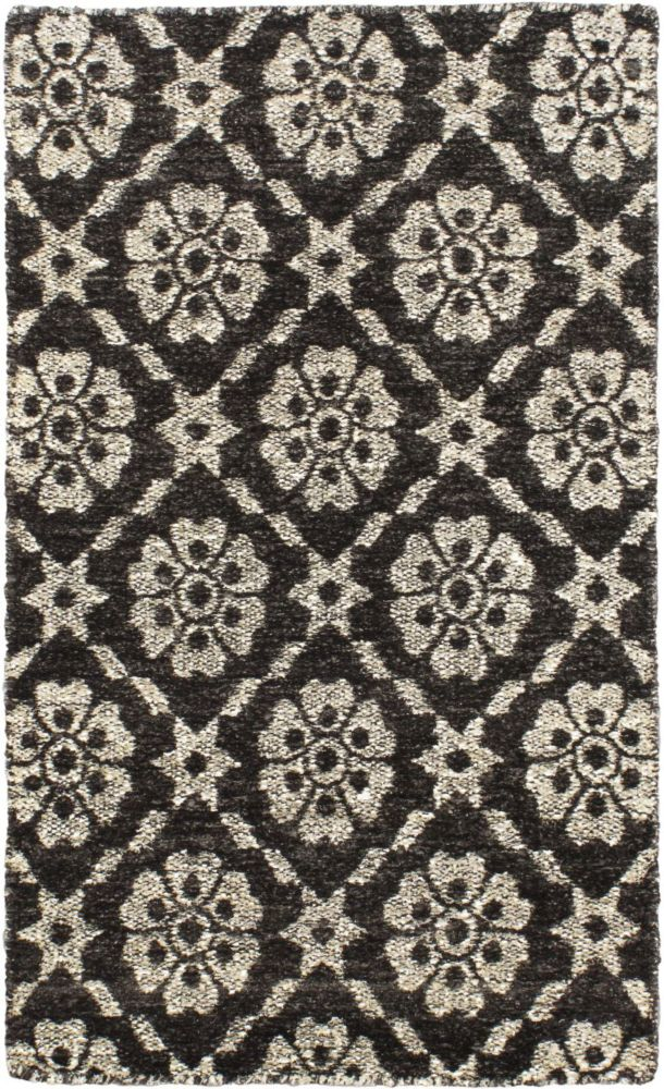 Hand loomed Rodrigo Black  Rug - 2 Ft. 11 In. x 5 Ft. 3 In.