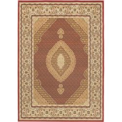 ECARPETGALLERY Classic Mahee Red 5 ft. 5-inch x 7 ft. 6-inch Indoor Traditional Rectangular Area Rug