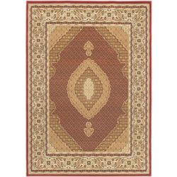 ECARPETGALLERY Classic Mahee Red 4 ft. 7-inch x 6 ft. 5-inch Indoor Traditional Rectangular Area Rug