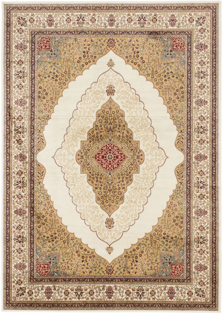 Kerman Classic Cream Khaki Rug - 3 Ft. 11 In. x 5 Ft. 3 In. 118236 in Canada