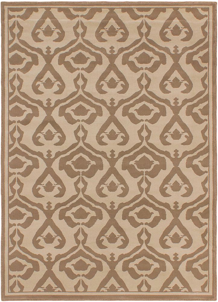 ECARPETGALLERY Crown Cream Ivory 5 ft. 3-inch x 7 ft.4-inch Indoor Area Rug