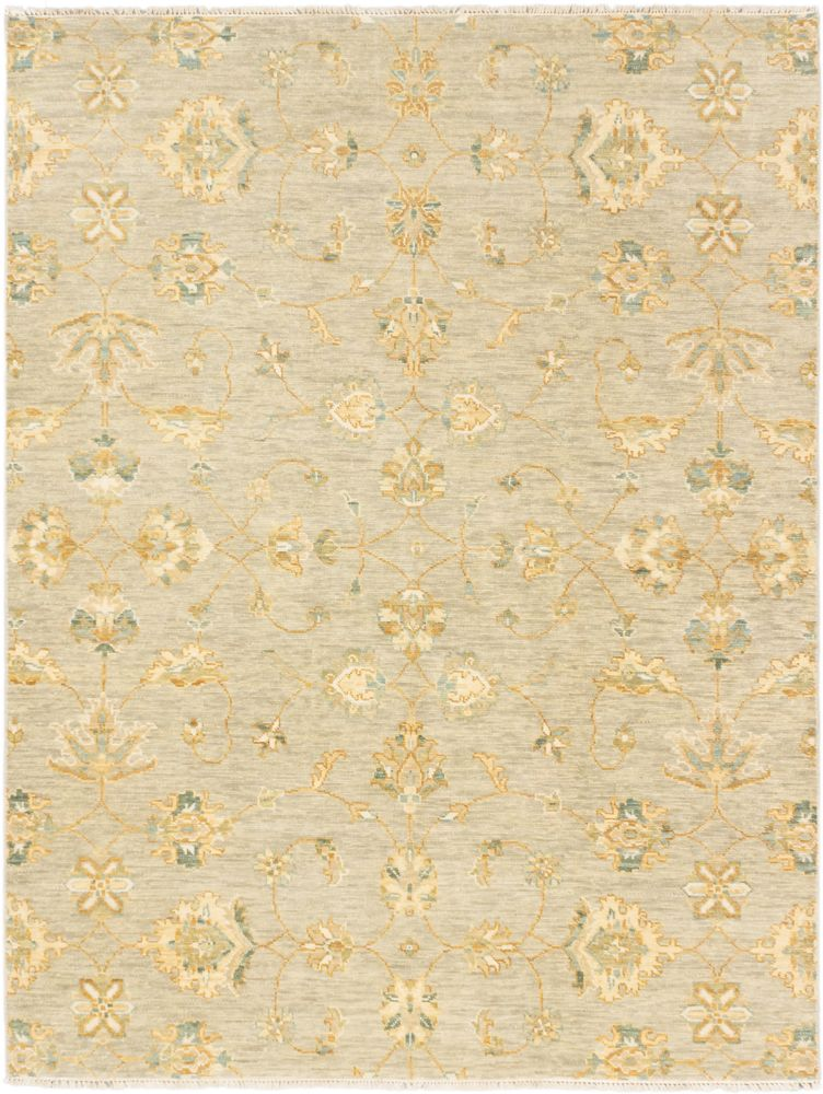 Hand-knotted Jules Ushak Khaki Rug - 7 Ft. 10 In. x 10 Ft. 3 In. 173288 Canada Discount