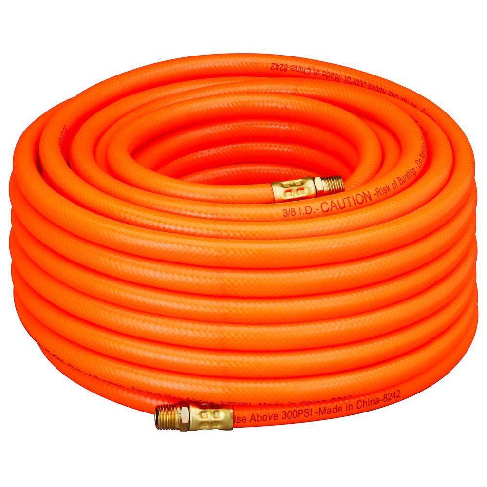 Tuyau à air en PVC orange 3/8po x 100pi (15m)