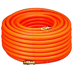 3/8 Inch x 100 Foot Orange PVC Air Hose