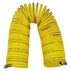 HUSKY Tuyau à air spiralé en nylon de 1/4po x 50 pi (15m)