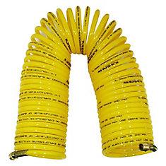 Tuyau à air spiralé en nylon de 1/4po x 50 pi (15m)
