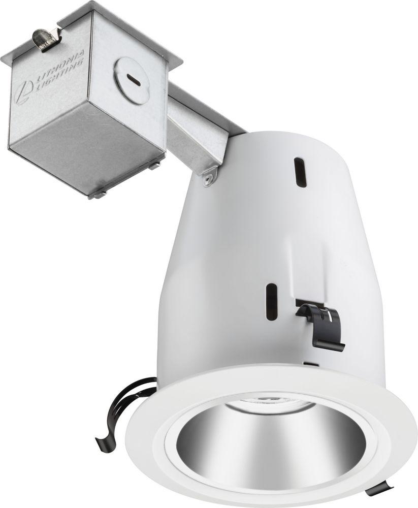 Luminaire encastré à déflecteur et DEL de 7,6cm (4po) � anodisé blanc