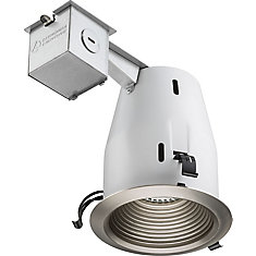 4-inch LED Recessed Baffle - Brushed Nickel