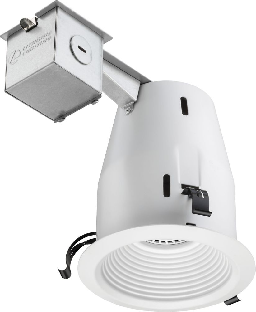 4 Inch LED  Recessed Baffle - Matte White