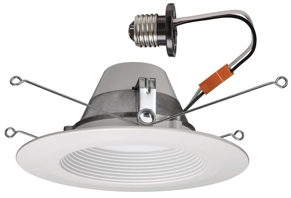Matte White Recessed Retrofit Led Downlight - 5 Inch Or 6 Inch