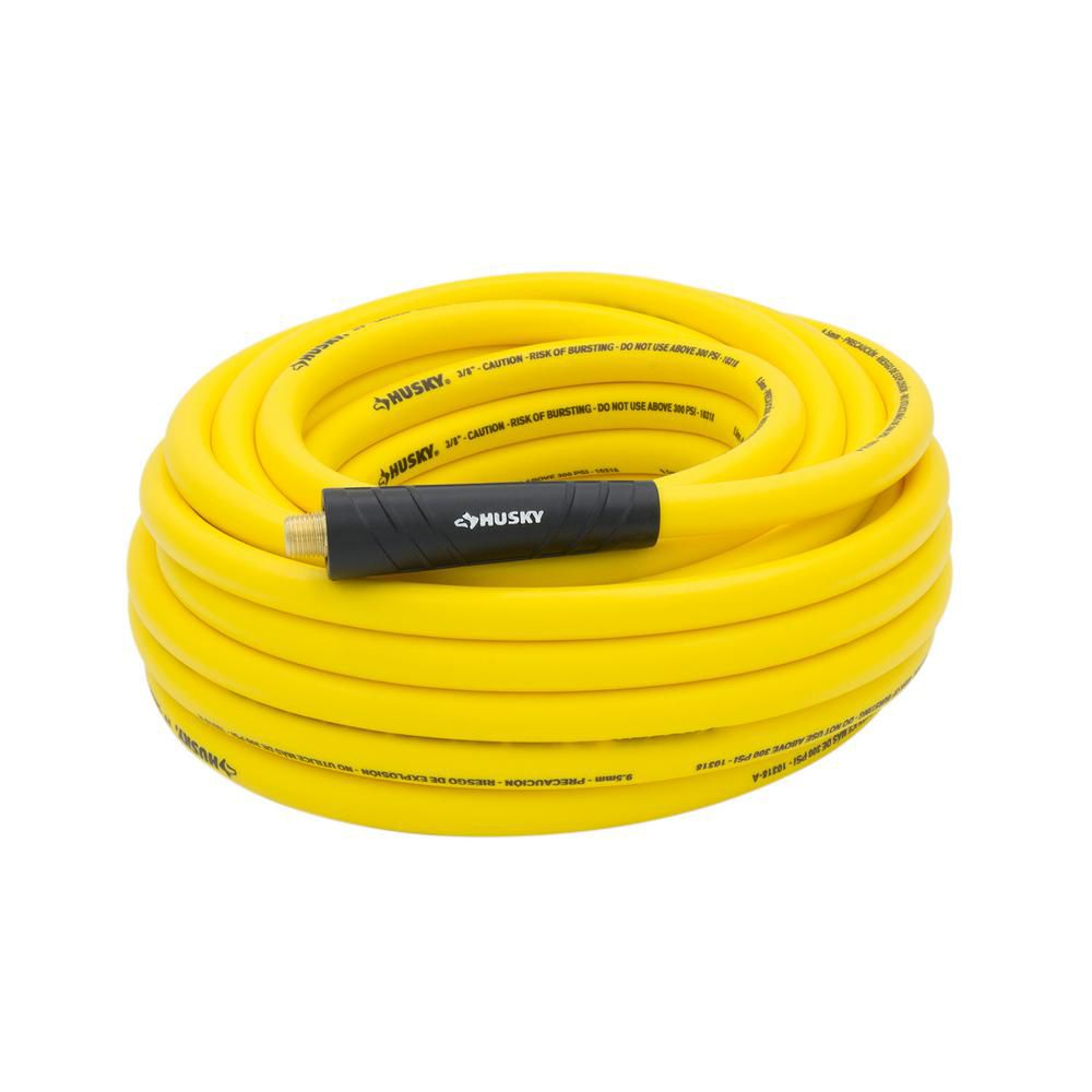 3/8-inch x 50-inch Hybrid Air Hose (Yellow)