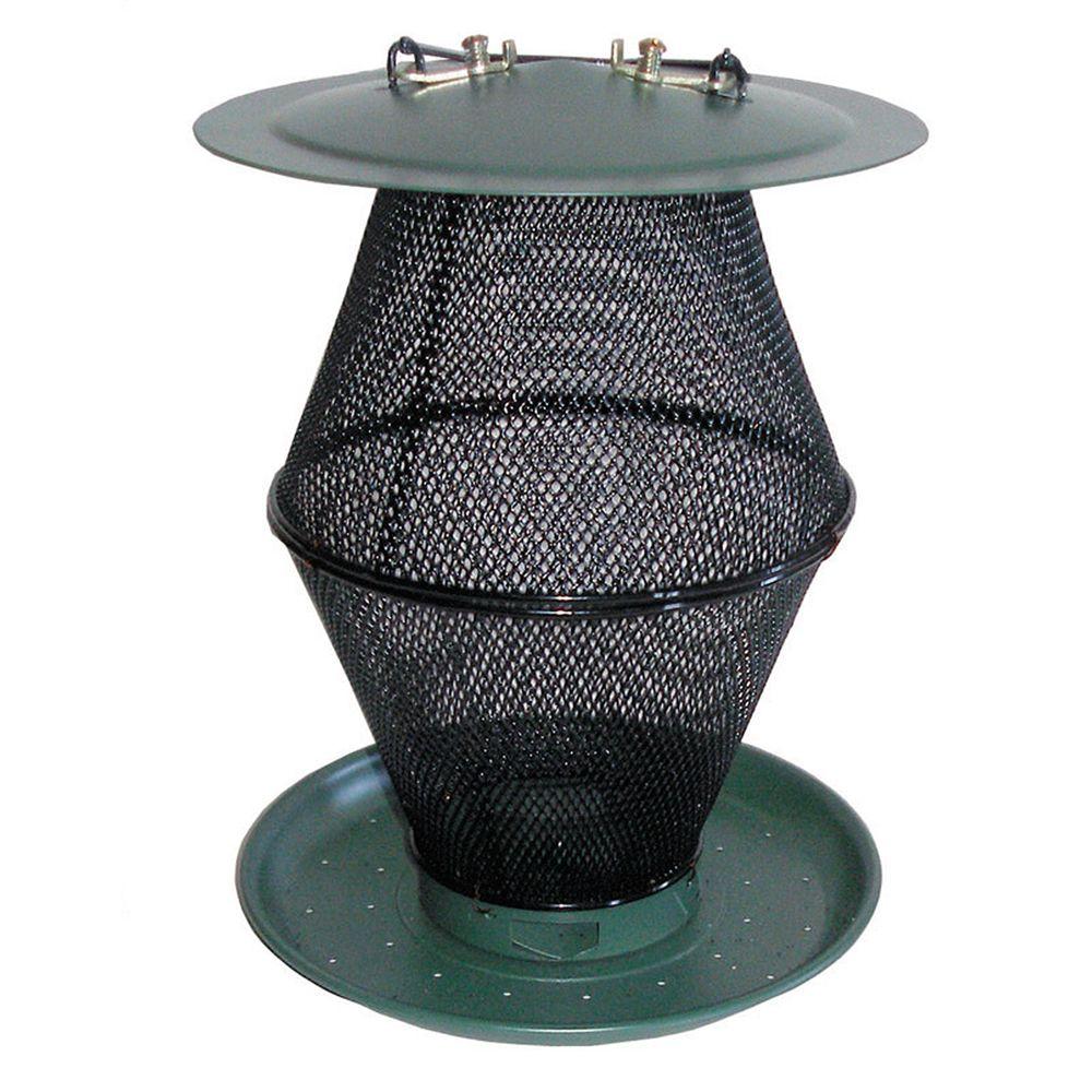 Mangeoire d'oiseaux No/No lanterne vert forêt pour graines mélangées