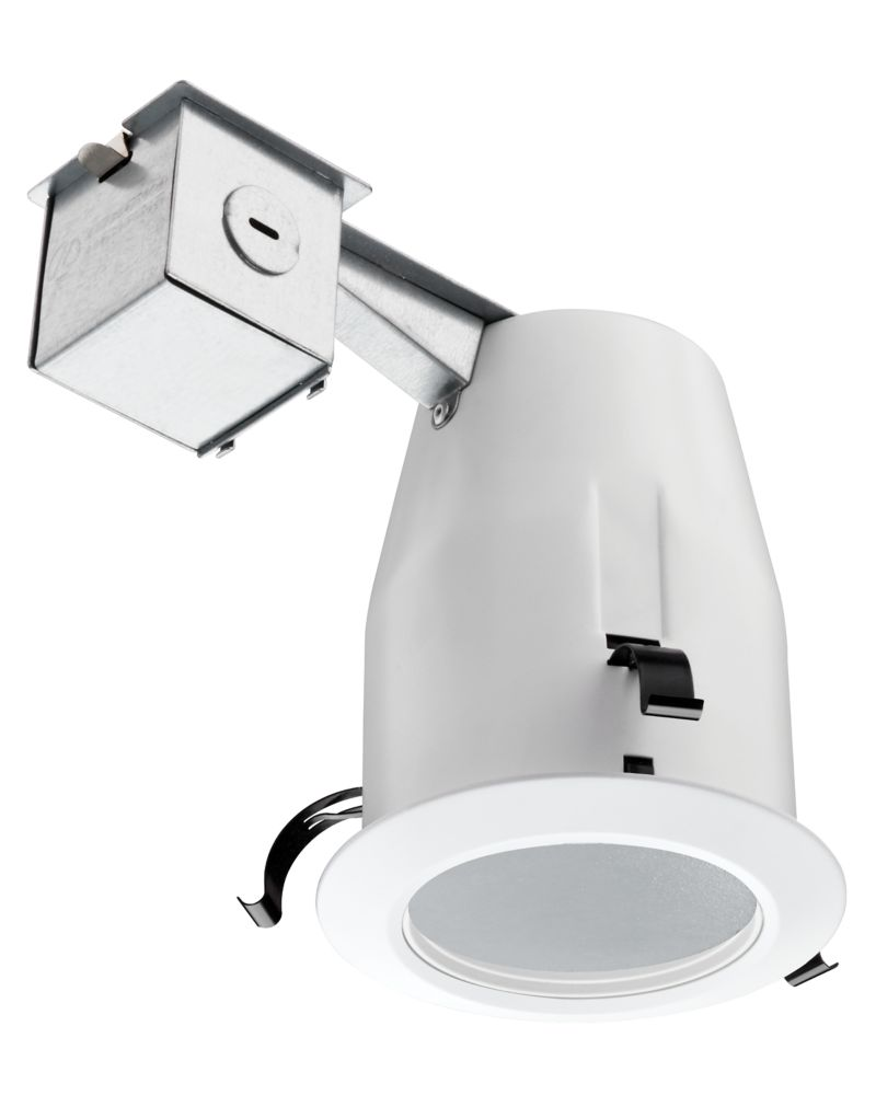 4 Inch LED Recessed  Soffit & Shower Baffle - White