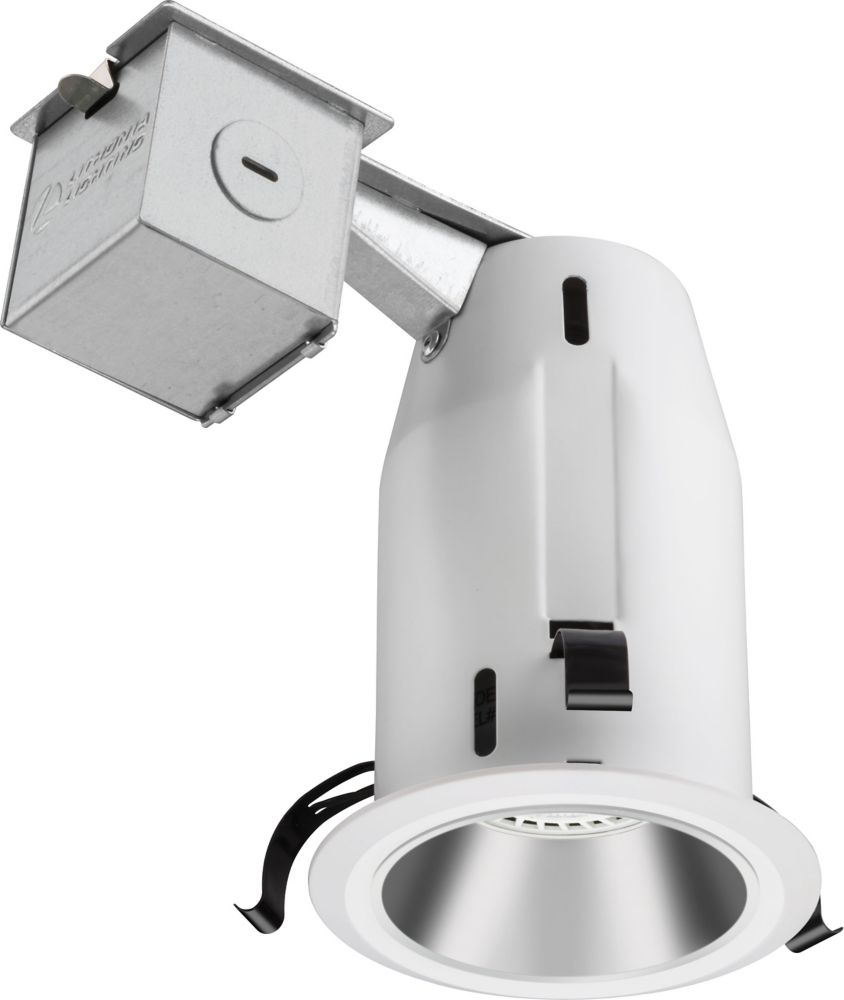 3 Inch LED  Recessed Baffle - White Annodized