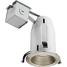 3 Inch LED  Recessed Baffle - Brushed Nickel