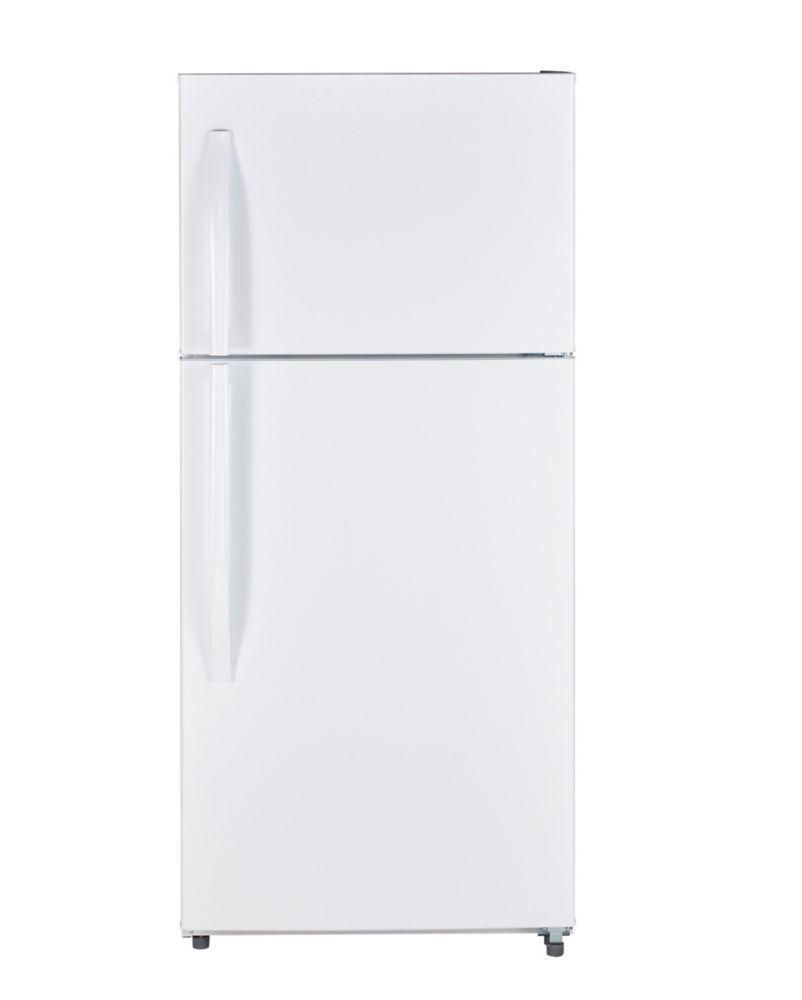 Moffat Réfrigérateur sans givre à compartiments superposés de 18 pi³
