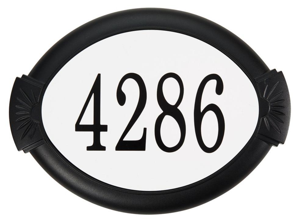 Plaque d'Adresse Classique en Aluminium, Noir
