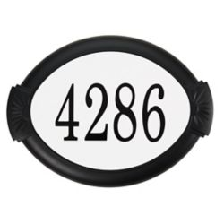 PRO-DF Classic Aluminum Address Plaque, Black