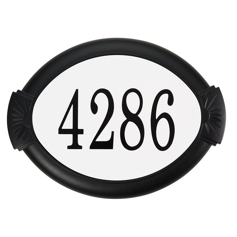 PRO-DF Classic Aluminum Address Plaque, Black