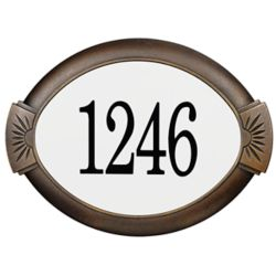 PRO-DF Classic Aluminum Address Plaque, Antique Bronze