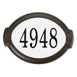 PRO-DF Classic Aluminum Address Plaque, Mocha