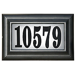 PRO-DF Classic Lighted Address Plaque, Black