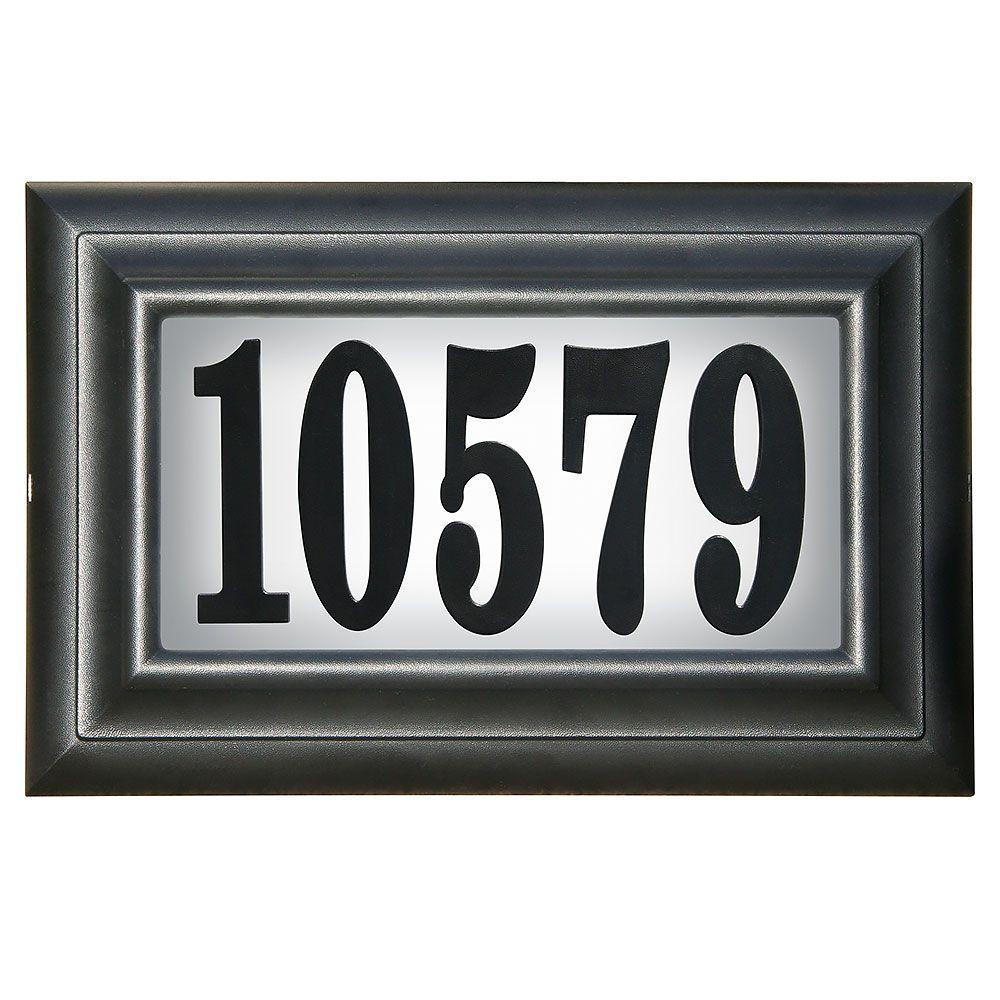 Clic Lighted Address Plaque Black