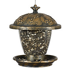Holly Berry Gilded Chalet Wild Bird Feeder