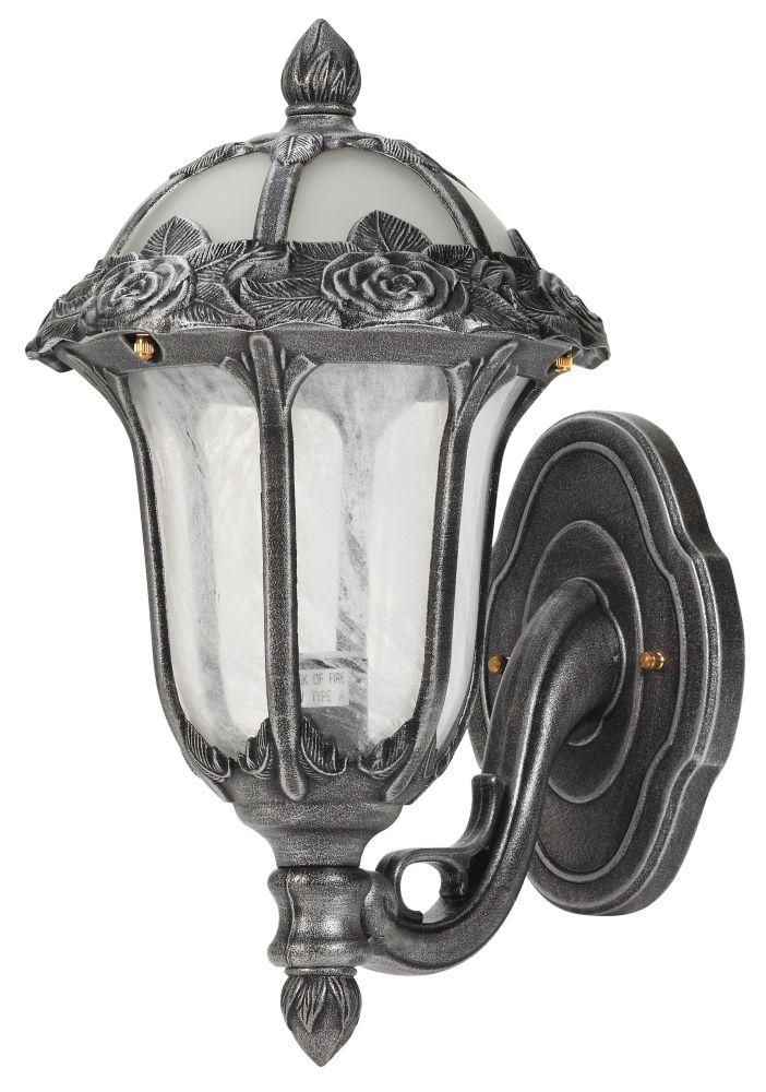 Rose Garden Bottom Mount Light, Swedish Silver