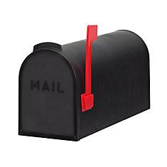 Economic Post Mount Mailbox, Black