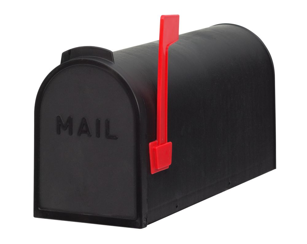 PRO-DF Economic Post Mount Mailbox, Black