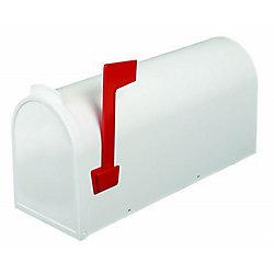 PRO-DF Economic Post Mount Mailbox, White